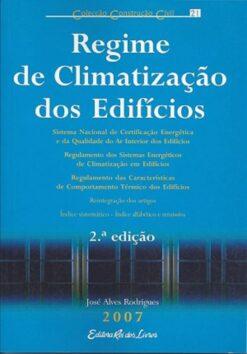 capa do livro regime de climatização dos edifícios
