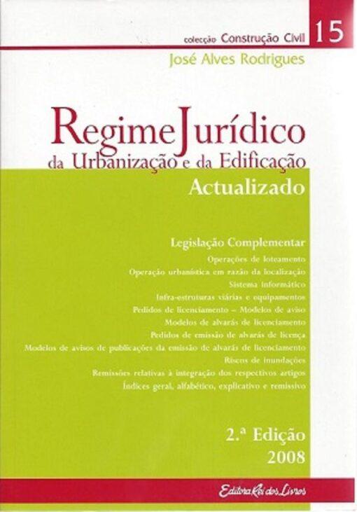 capa do livro regime juridico da urbanização e da edificação