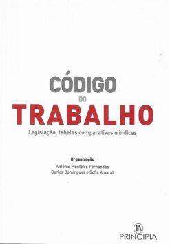 capa do livro Código do trabalho Legislação tabelas e índices