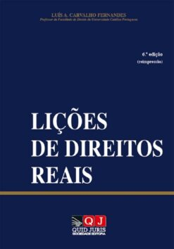 capa do livro Lições de Direitos Reais