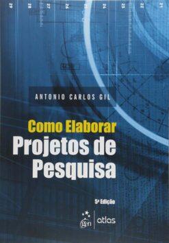 Capa do livro como elaborar projetos de pesquisa