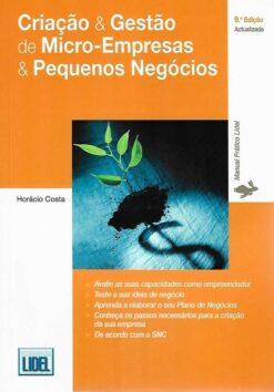 capa do livro criação e gestão de micro-empresas e pequenos negocios