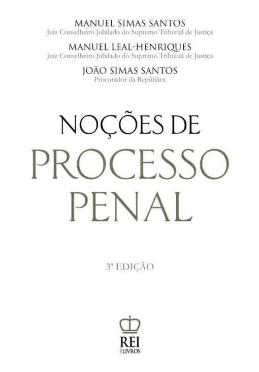 Capa do Livro Noções de Processo Penal