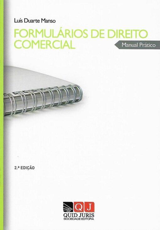 capa do livro formulários de direito comercial manual prático