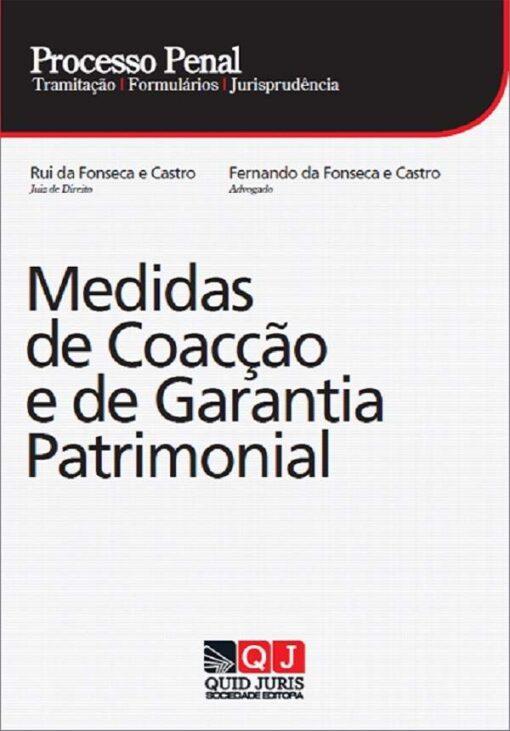capa do livro Processo Penal - Medidas de Coacção e de Garantia Patrimonial