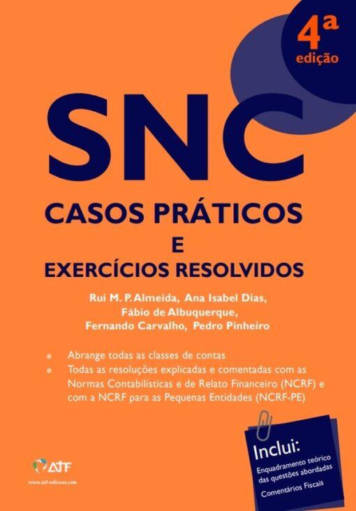 Capa do Livro SNC Casos Práticos e Exercícios Resolvidos