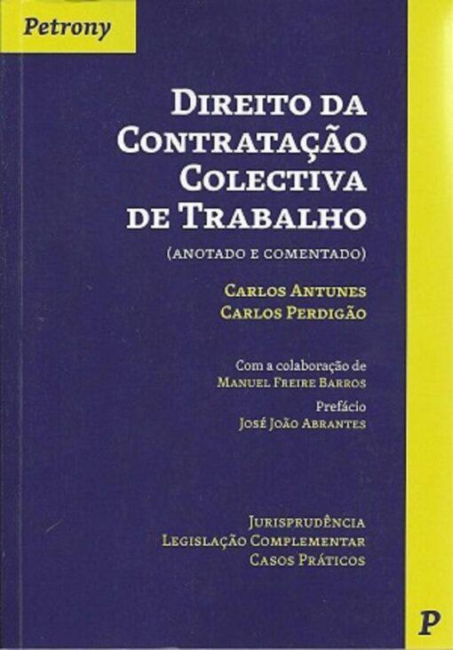 capa do livro direito da contratação colectiva de trabalho