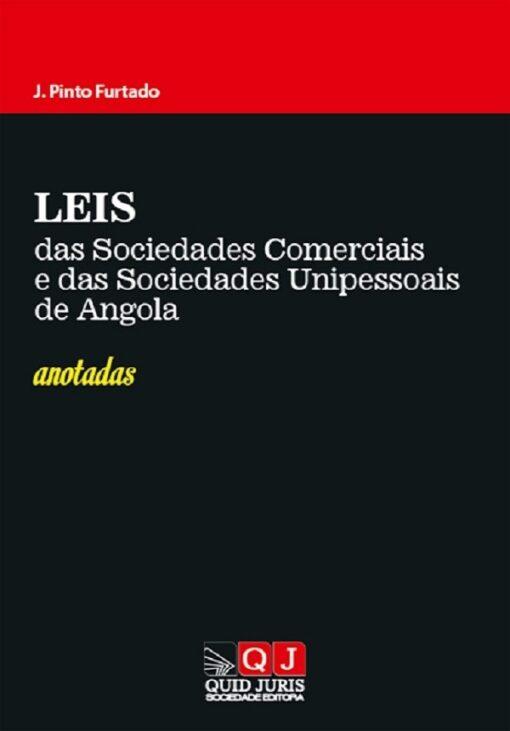 capa do livro Leis das Sociedades Comerciais e das Sociedades Unipessoais de Angola