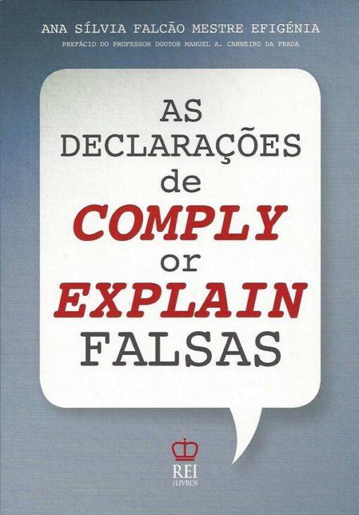 capa do livro As Declarações de Comply or Explain Falsas