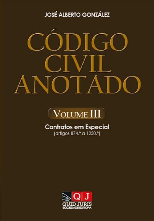 capa do livro Código Civil Anotado – Volume III