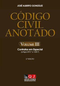 Capa do Livro Código Civil Anotado Vol III
