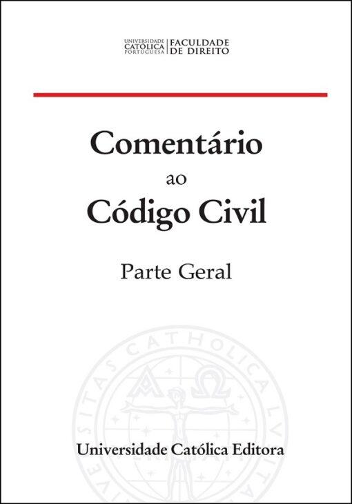 capa do livro Comentário ao Código Civil Parte Geral