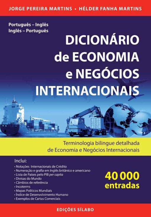 capa do livro Dicionário de Economia e Negócios Internacionais