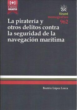 capa do livro la pirateria y otros delitos contra la seguridad de la navegacion maritima
