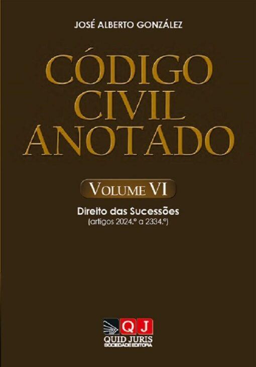 capa do livro Código Civil Anotado – Volume VI