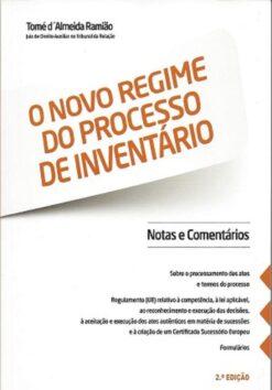 capa do livro O Novo Regime do Processo de Inventário
