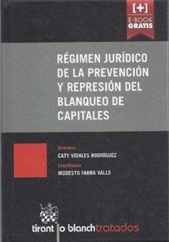 capa do livro Régimen Jurídico de la Prevención y Represión del Blanqueo de Capitales