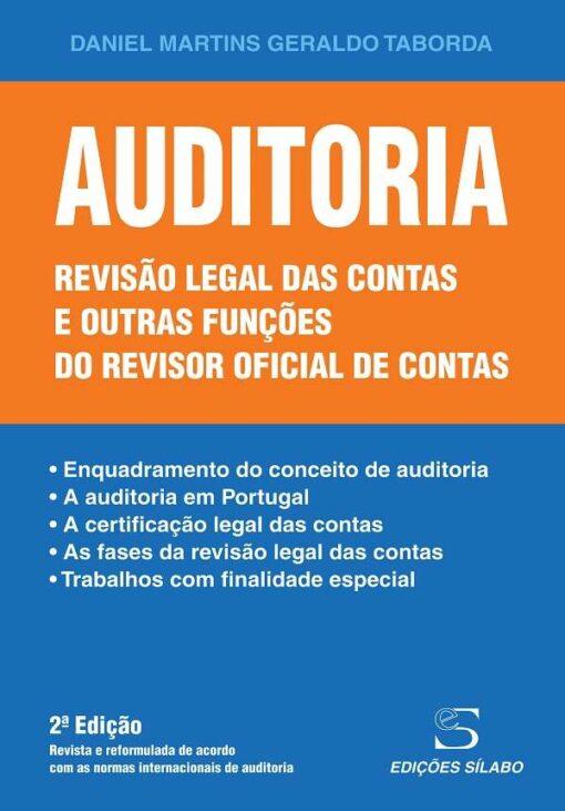 capa do livro Auditoria Revisão legal das contas e outras funções do revisor oficial de contas
