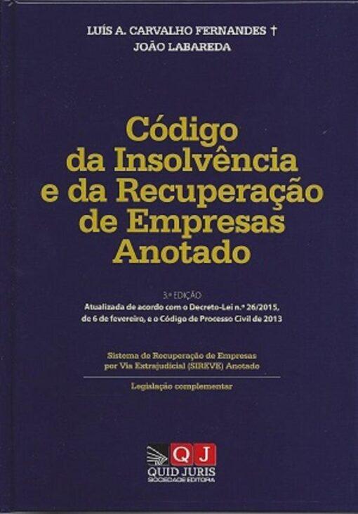 capa do livro Código da Insolvência e da Recuperação de Empresas Anotado