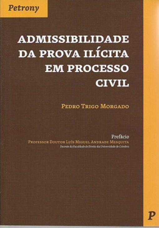 capa do livro admissiblidade da prova ilícita em processo civil