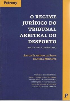 Capa do livro o regime juridico do tribunal arbitral do desporto