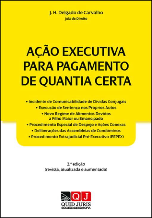 capa do livro Ação Executiva para Pagamento de Quantia Certa