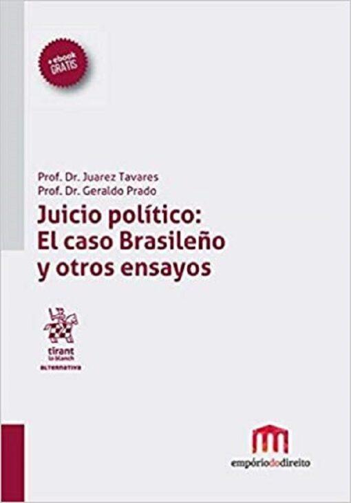 capa do livro uicio político El caso Brasileno y otros ensayos