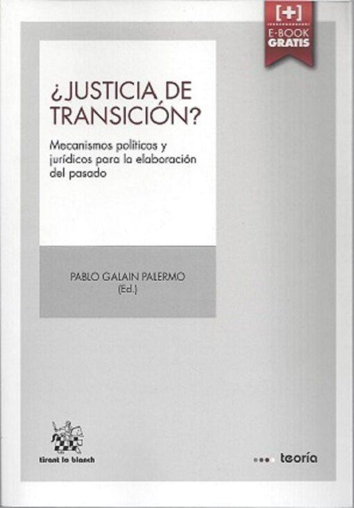 capa do livro Justicia de Transición