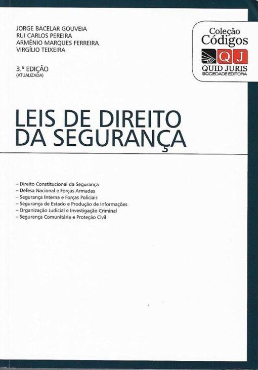capa do livro leis de direito da segurança