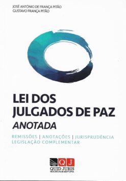 Capa do livro Lei dos Julgados de Paz Anotada e Comentada