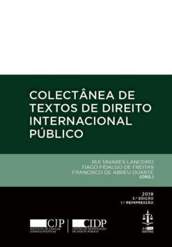 capa do livro Colectânea de Textos de Direito Internacional Público