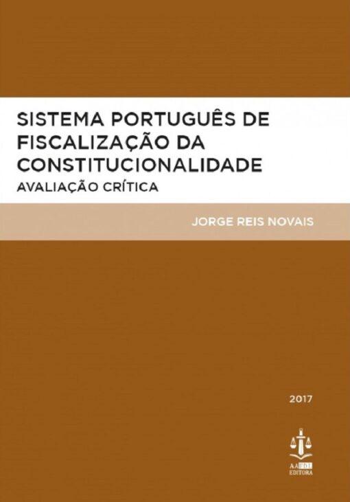 capa do livro Sistema Português de Fiscalização da Constitucionalidade: Avaliação Crítica