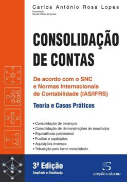 Capa do livro Consolidação de Contas Teoria e Casos Práticos