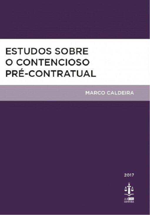 capa do livro Estudos sobre o Contencioso Pré-contratual