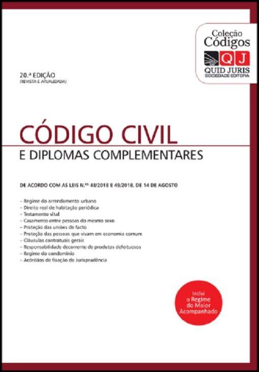 Código Civil e Diplomas complementares 20ªed.
