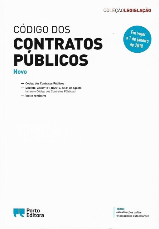 capa do livro Código dos contratos Públicos