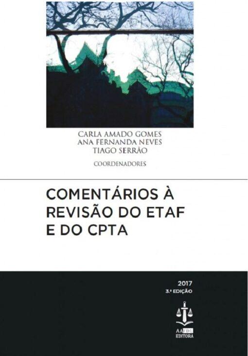capa do livro Comentários à Revisão do ETAF e do CPTA