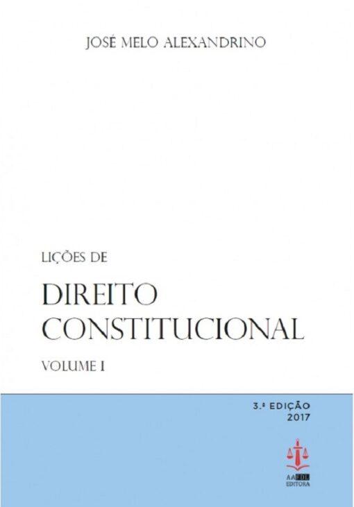 capa do livro Lições de Direito Constitucional