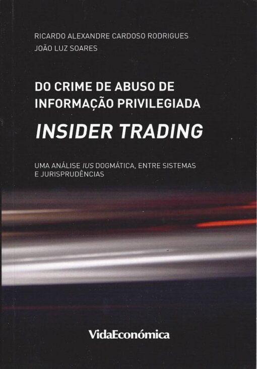 capa do livro do crime de abuso de informação privilegiada