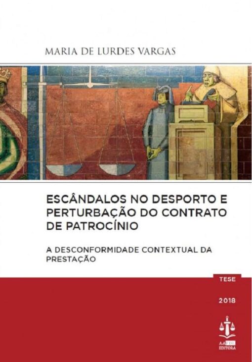 capa do livro Escândalos no Desporto e Perturbação do Contrato de Patrocínio