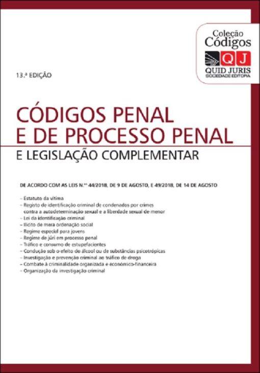 Código Penal e de processo Penal e legislação Complementar 13ª ed