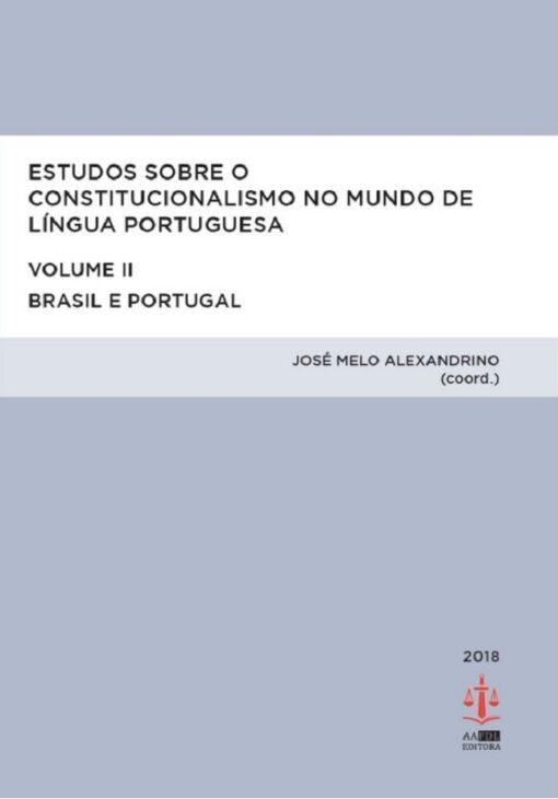 capa do livro Estudos Sobre o Constitucionalismo no Mundo de Língua Portuguesa