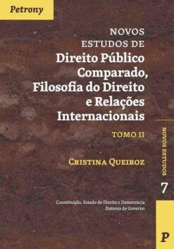 capa do livro Novos Estudos de Direito Público Comparado, Filososfia do Direito e Relações Internacionais