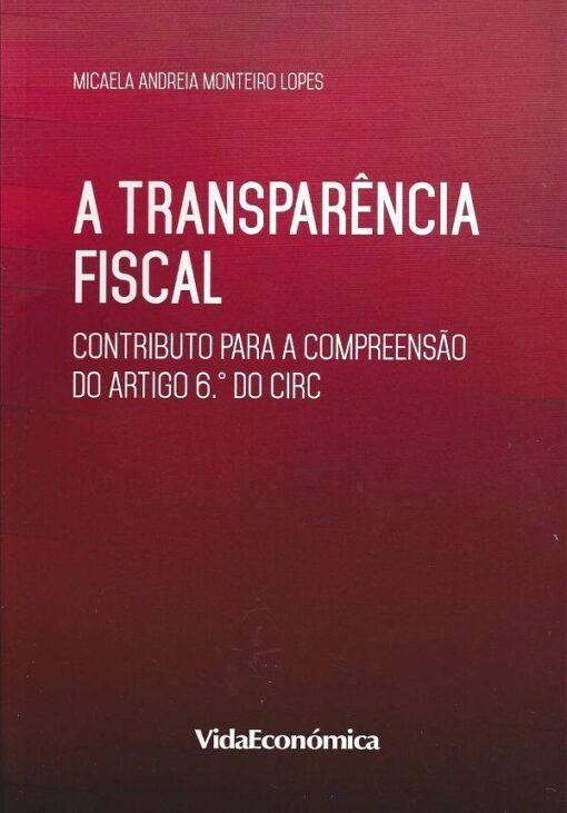capa do livro a transparencia fiscal