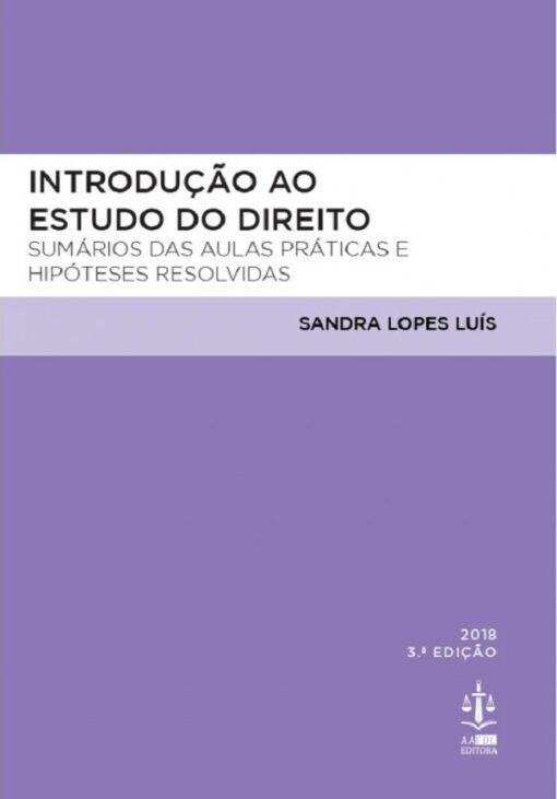 capa do livro Introdução ao Estudo do Direito 3.ª Edição