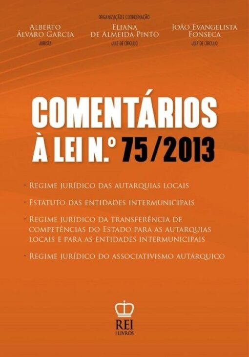 Capa Comentários à Lei N.º 75/2013,