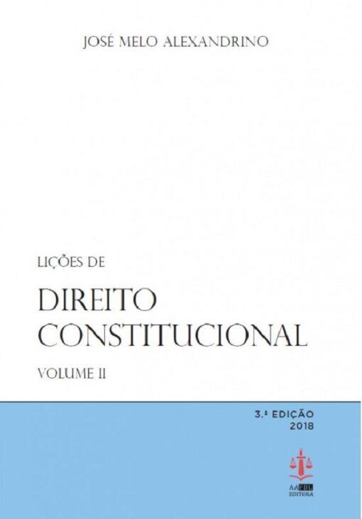 capa do livro Lições de Direito Constitucional Volume II