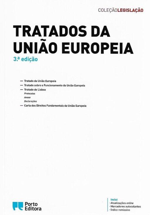 Capa do livro Tratados da União Europeia