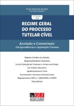 Capa do livro Regime Geral do Processo Tutelar Cível de Tomé de Almeida Ramião