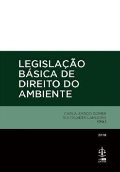 Capa do livro Legislação Básica de Direito do Ambiente